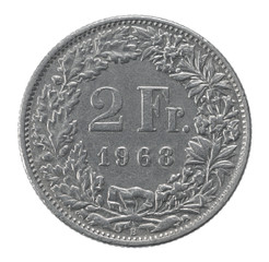 two francs coin