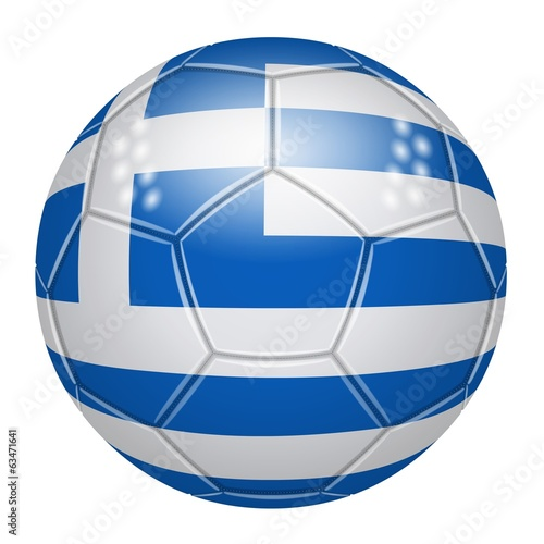 Soccer ball at the colors of Greece