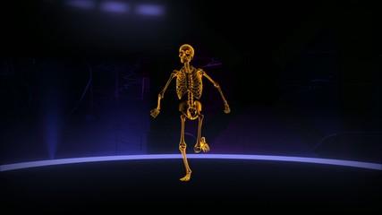 Xray running human