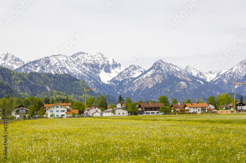 lovely panorama in the alps in Germany