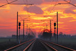 canvas print picture - Railway, raolroad