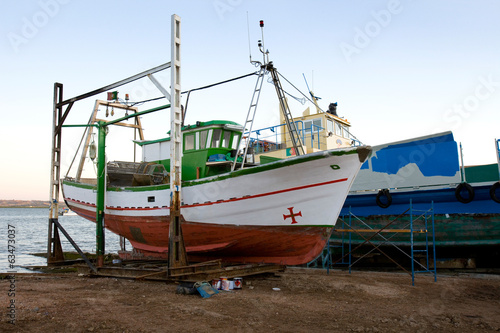 Boat in repair
