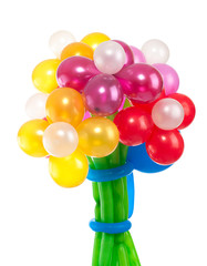 Bouquet of different color, balloons