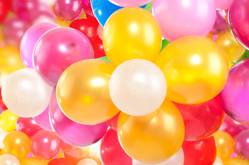 Background of colorful, balloons
