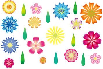春の花柄フラワーカード