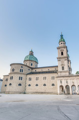 Salzburg Cathedral (Salzburger Dom) at Residenzplatz, Austria