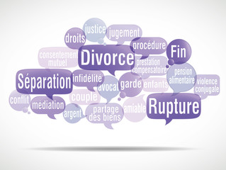 nuage de mots bulles : divorce (cs5)