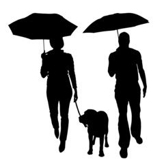 Vector silhouette of the people.