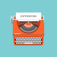 Copywriting flat illustration concept