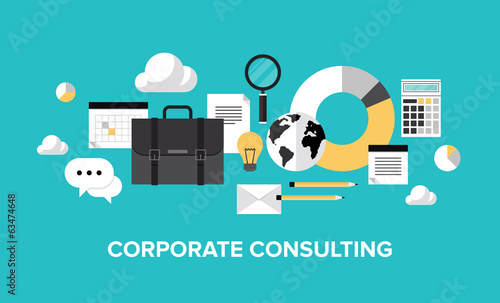 Corporate management and consulting concept