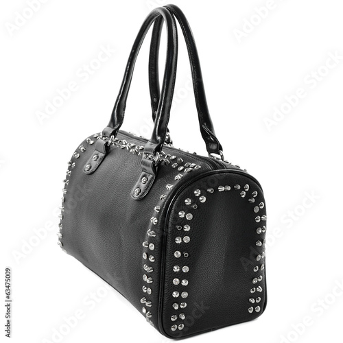 Black Bag punk rock style with silver spikes.