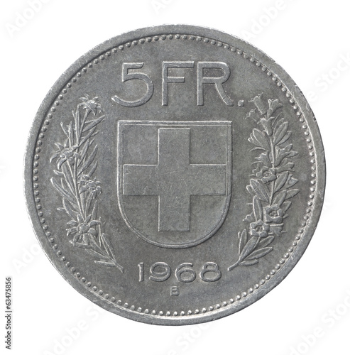 five francs coin