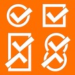 Orange tick icons