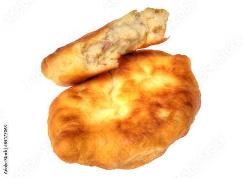 Pirojki. Traditional delicious Russian patty