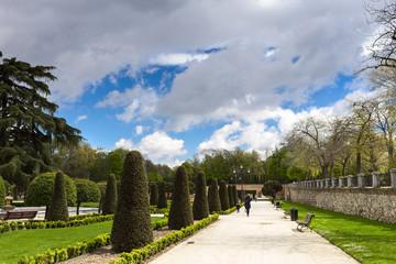 Gardens of the Retiro Park. Madrid. Spain