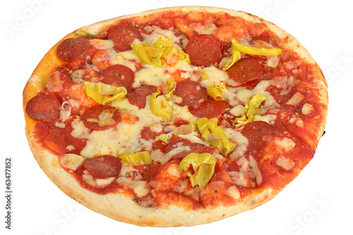 Pepperoni and Hot Pepper Pizza