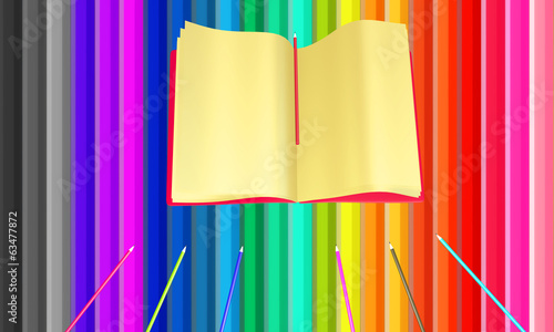 Colourful background from pencils