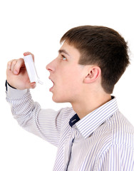 Teenager with Inhaler