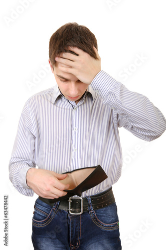 Teenager with Empty Wallet