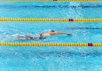swimmer float in pool