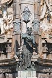 Espanya Square fountain located at Barcelona, Spain poster