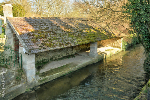 France, a wash house in Nesles la Vallee
