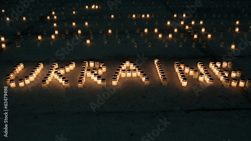 inscription of the candles - Ukraine