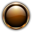 Gold button elegant glossy metallic