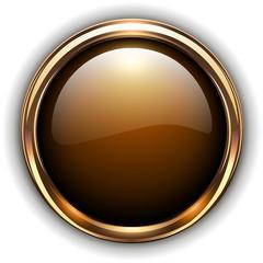 Gold button elegant glossy metallic