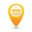 Shop basket icon on map pointer