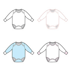 Long Sleeve Infant Bodysuit Set