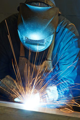 welder at factory workshop