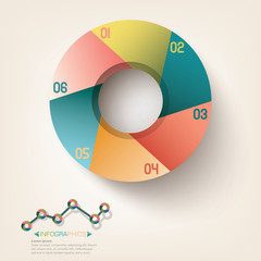 Infographic circle template design