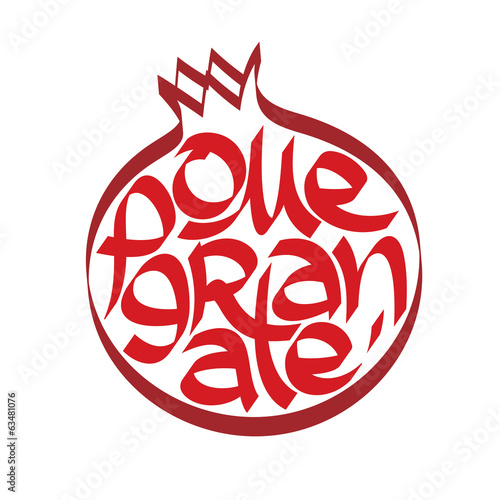 kaligrafia-granatowa-typografia-kaligrafia-owocowa
