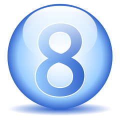 Number eight button