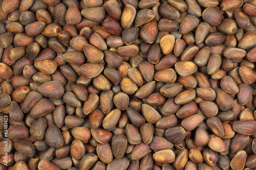 pine nuts brown abstract background