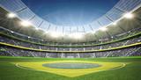 Fototapety Stadion Brasil Mittellinie