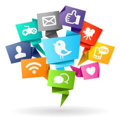 Social media Origami