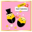 Cartolina d'auguri per San Valentino