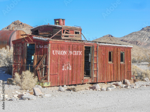 Caboose in Rhyolite Nevada