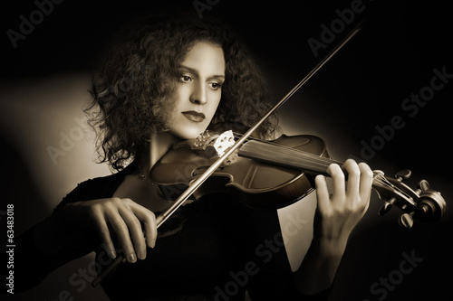 Violin player classical musician violinist