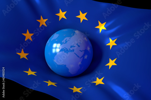 canvas print picture Europe - Globe