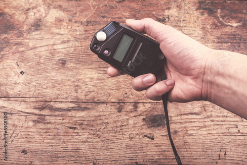 Hand with light meter