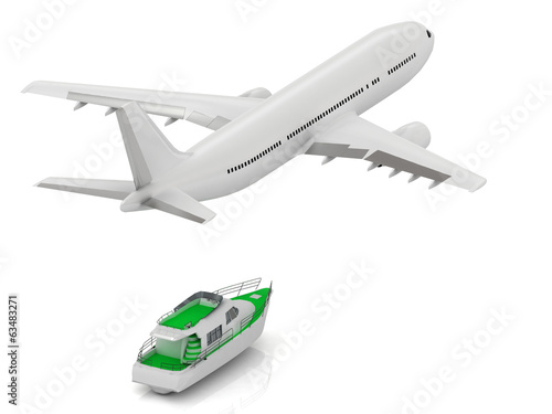White passenger airliner