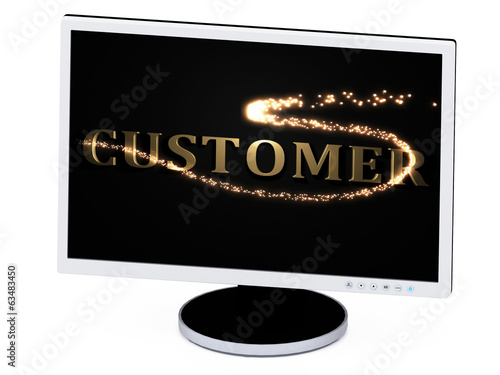 CUSTOMER- 3d inscription with luminous line with spark