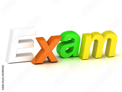 Exam - 3d inscription bright volume letter