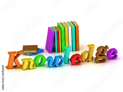 Knowledge - 3d inscription bright volume letter