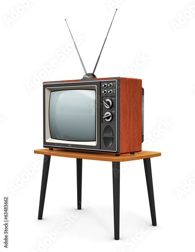canvas print picture Old TV