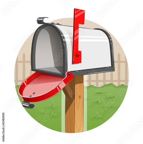 Mail box. Eps10 vector illustration. Isolated on white