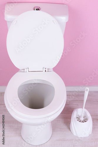canvas print picture White toilet bowl in  bathroom